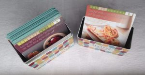 Feierabendglück Rezept-Box mit Rezeptkarte im Deckel